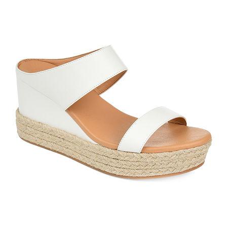 Journee Collection Womens Alissa Slip-On Shoe, 11 Medium, White