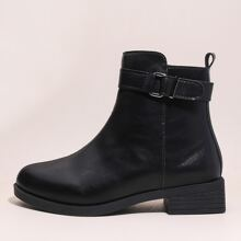 Metal Decor Ankle Boots