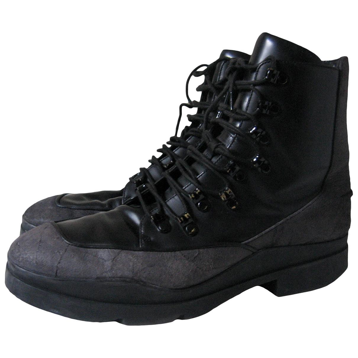 Stella Mccartney \N Black Leather Boots for Men 42 EU