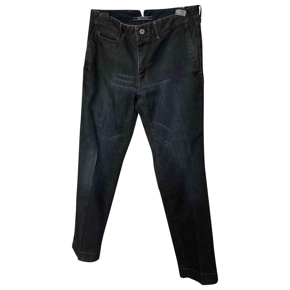 Incotex \N Navy Cotton Jeans for Men 33 US