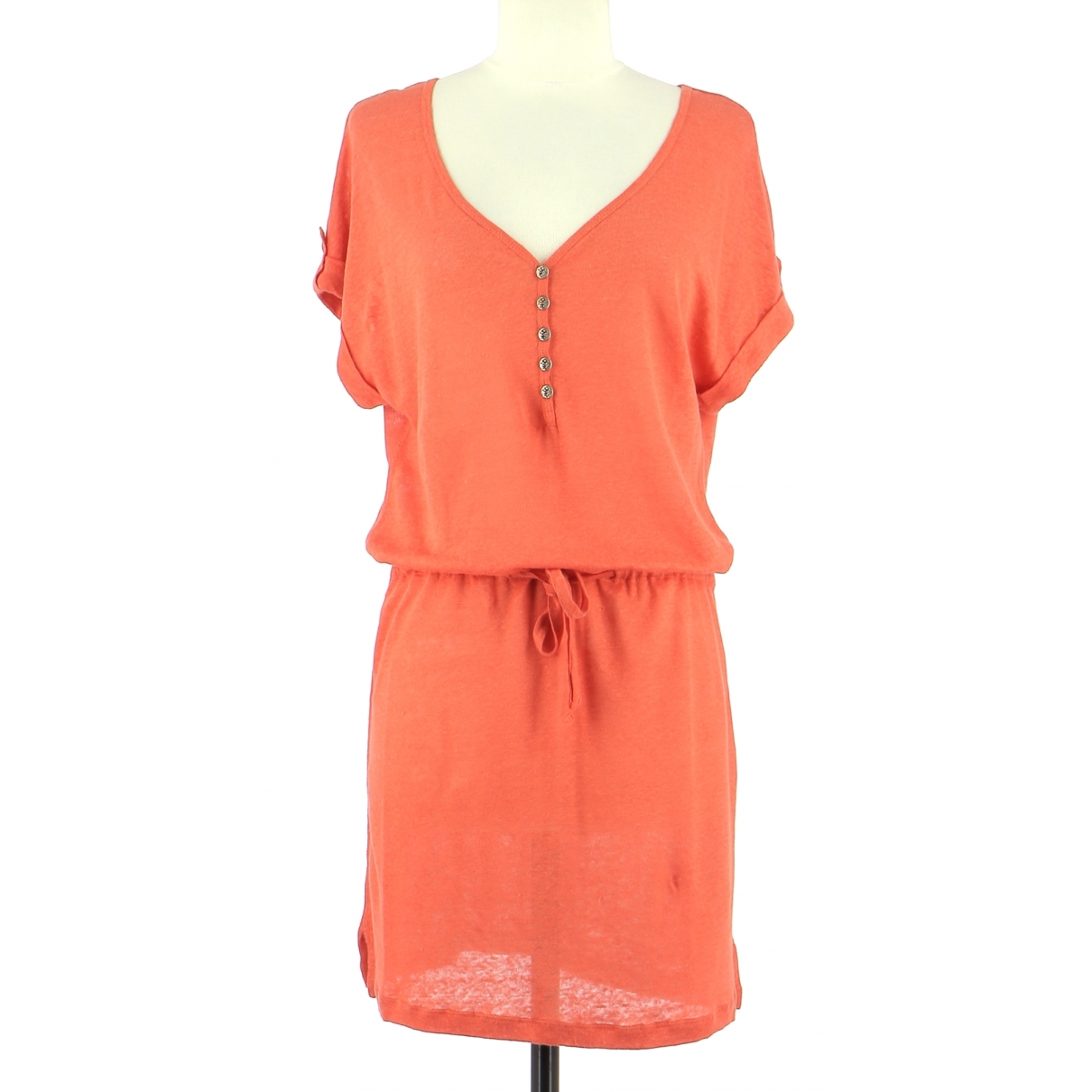 Autre Marque \N Orange Linen dress for Women 36 FR