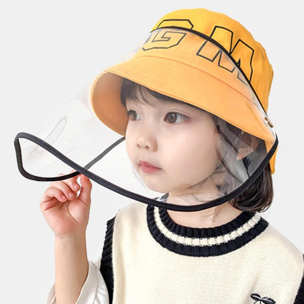 Children's Sun Hat Windproof Dust Cap Big-edge Outdoor Anti-UV Detachable Face Screen