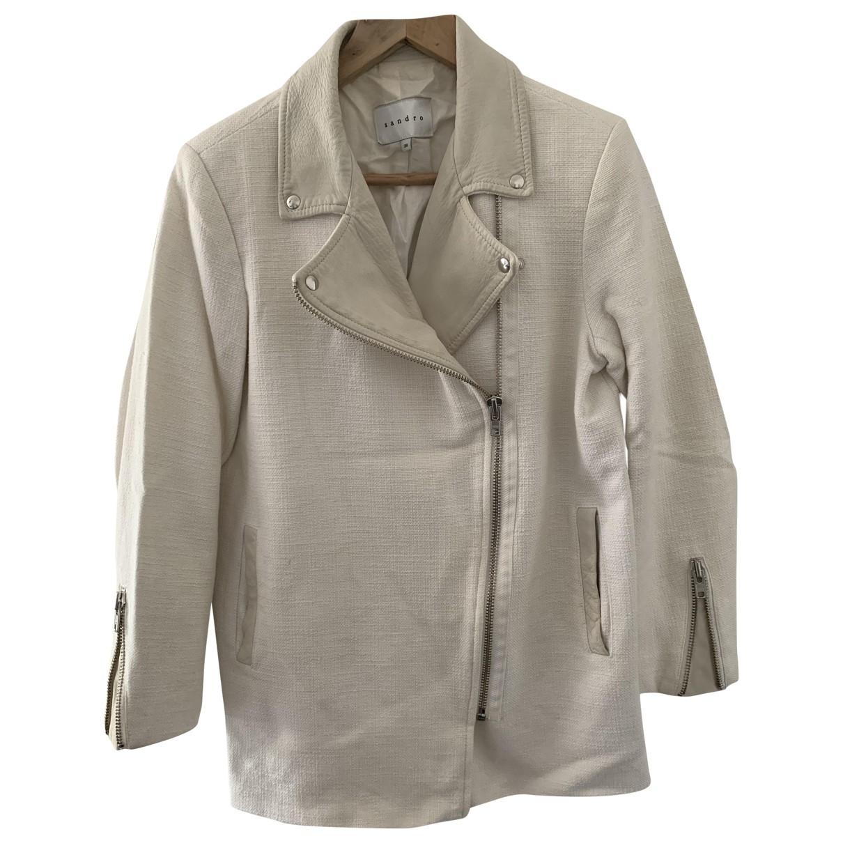 Sandro \N Ecru Cotton jacket for Women 36 FR