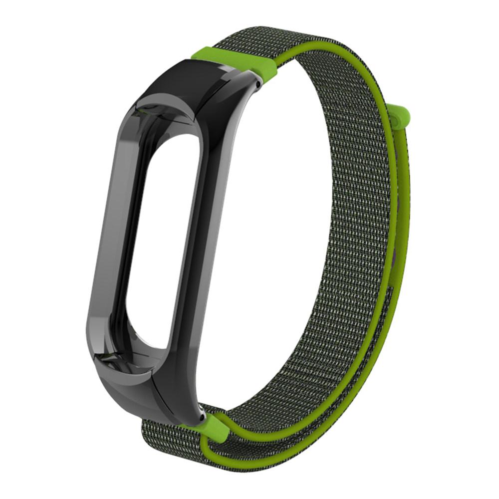 Replaceable Canvas Wrist Strap For Xiaomi Mi Band 3 Smart Bracelet - Yellow