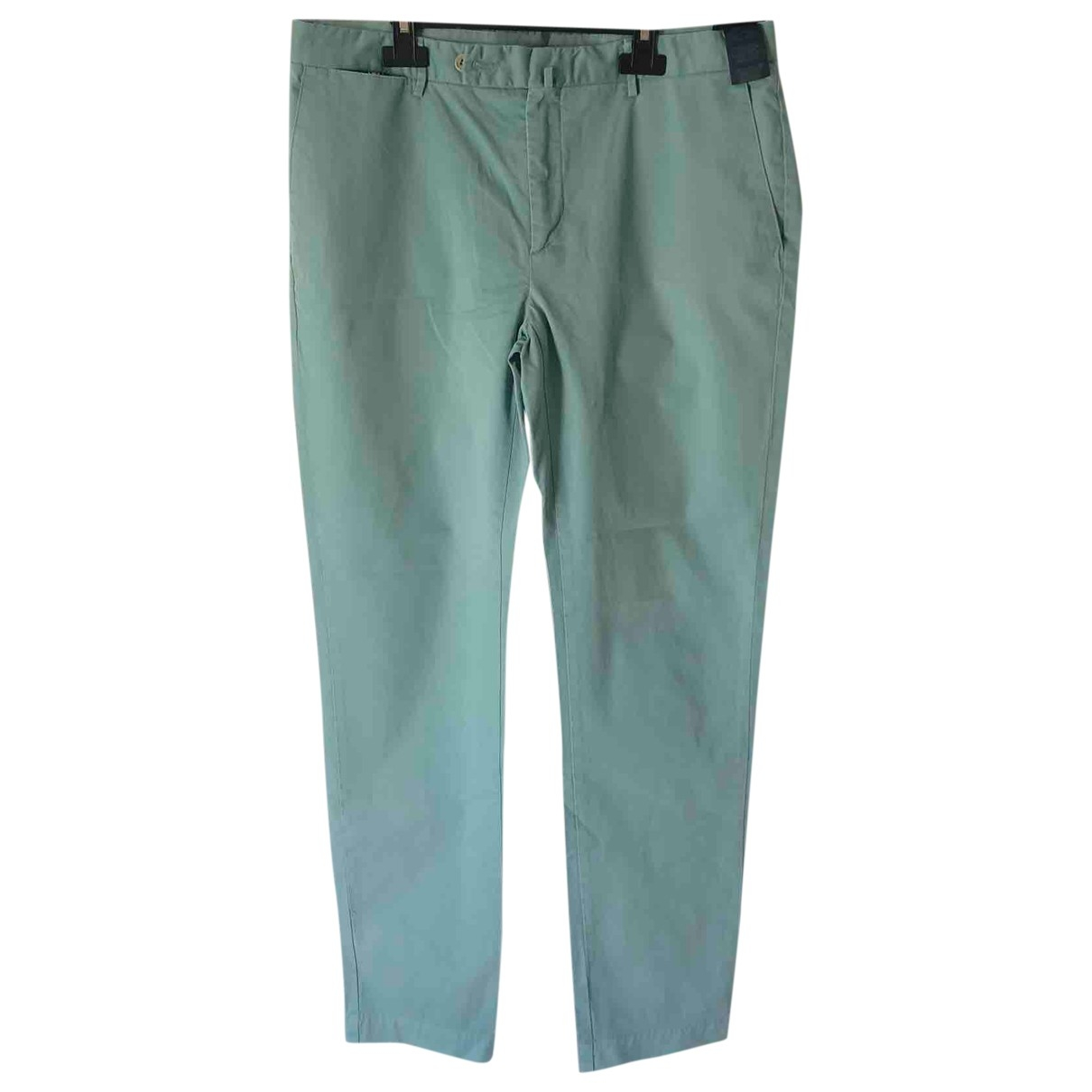 Hackett London \N Turquoise Cotton Trousers for Men 34 UK - US