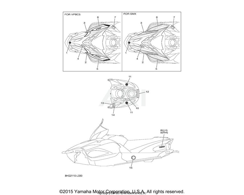 Yamaha OEM 8HG-7711B-20-00 GRAPHIC 2 | UR FOR VPBC5