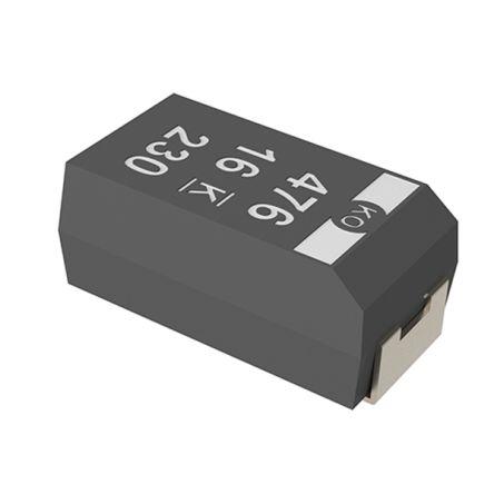 KEMET Tantalum Capacitor 330μF 6.3V dc Electrolytic Solid ±20% Tolerance , T520 (1000)