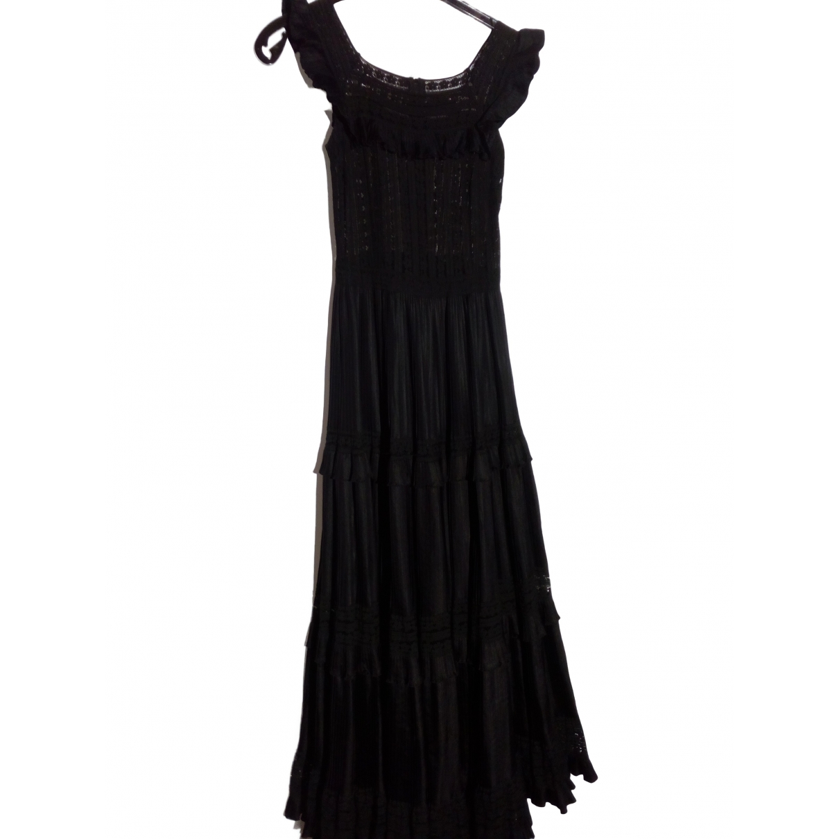 Non Signé / Unsigned Hippie Chic Black dress for Women 38 FR