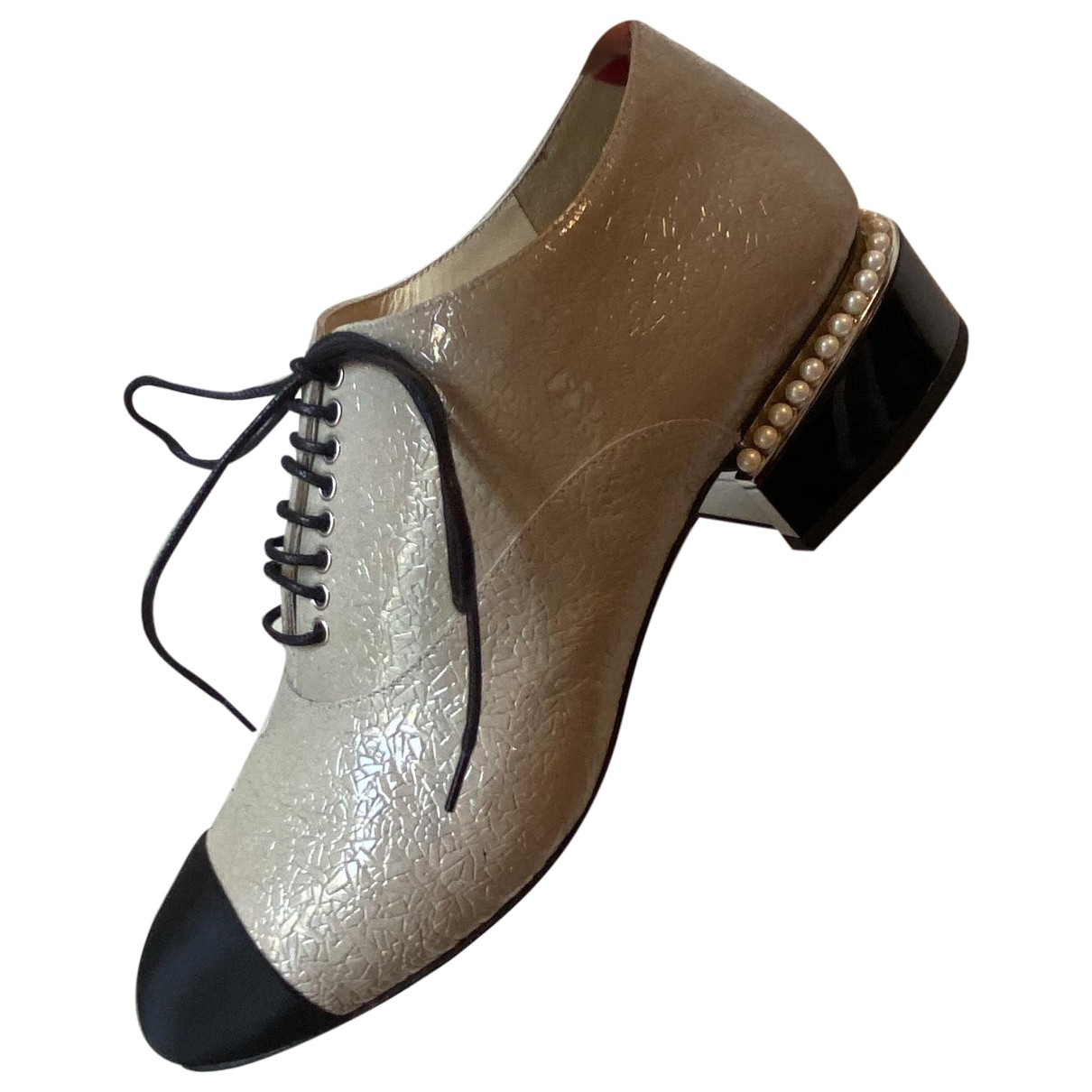 Chanel \N Grey Leather Lace ups for Women 38 EU