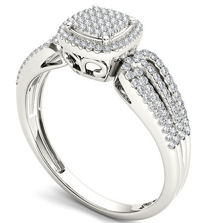 Womens 1/5 CT. T.W. Round White Diamond 10K Gold Engagement Ring, 8 , No Color Family