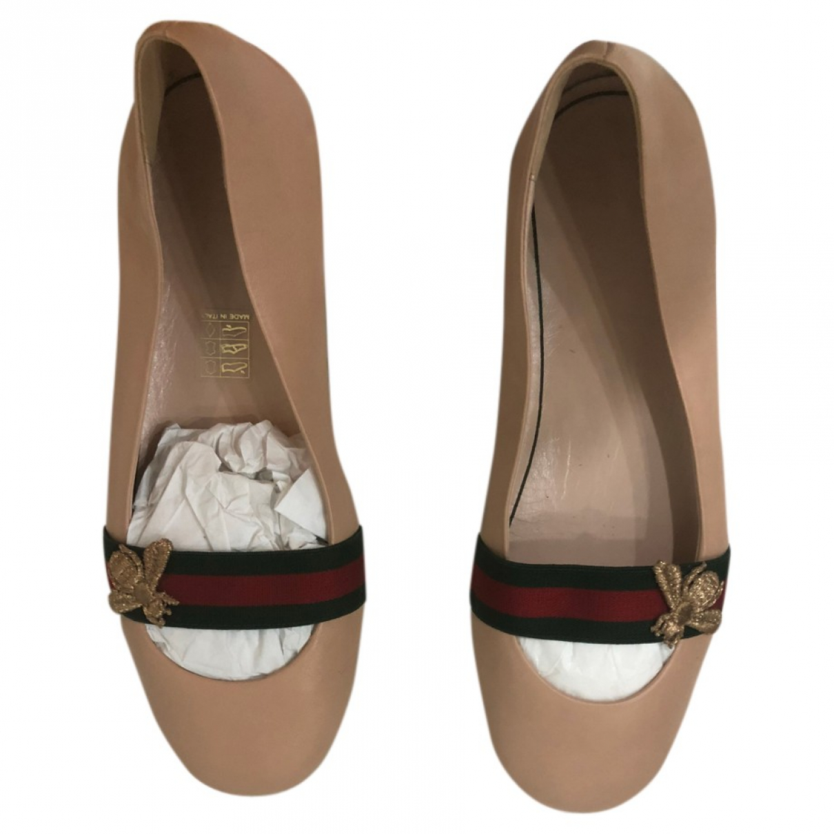 Gucci \N Pink Leather Ballet flats for Women 37 IT