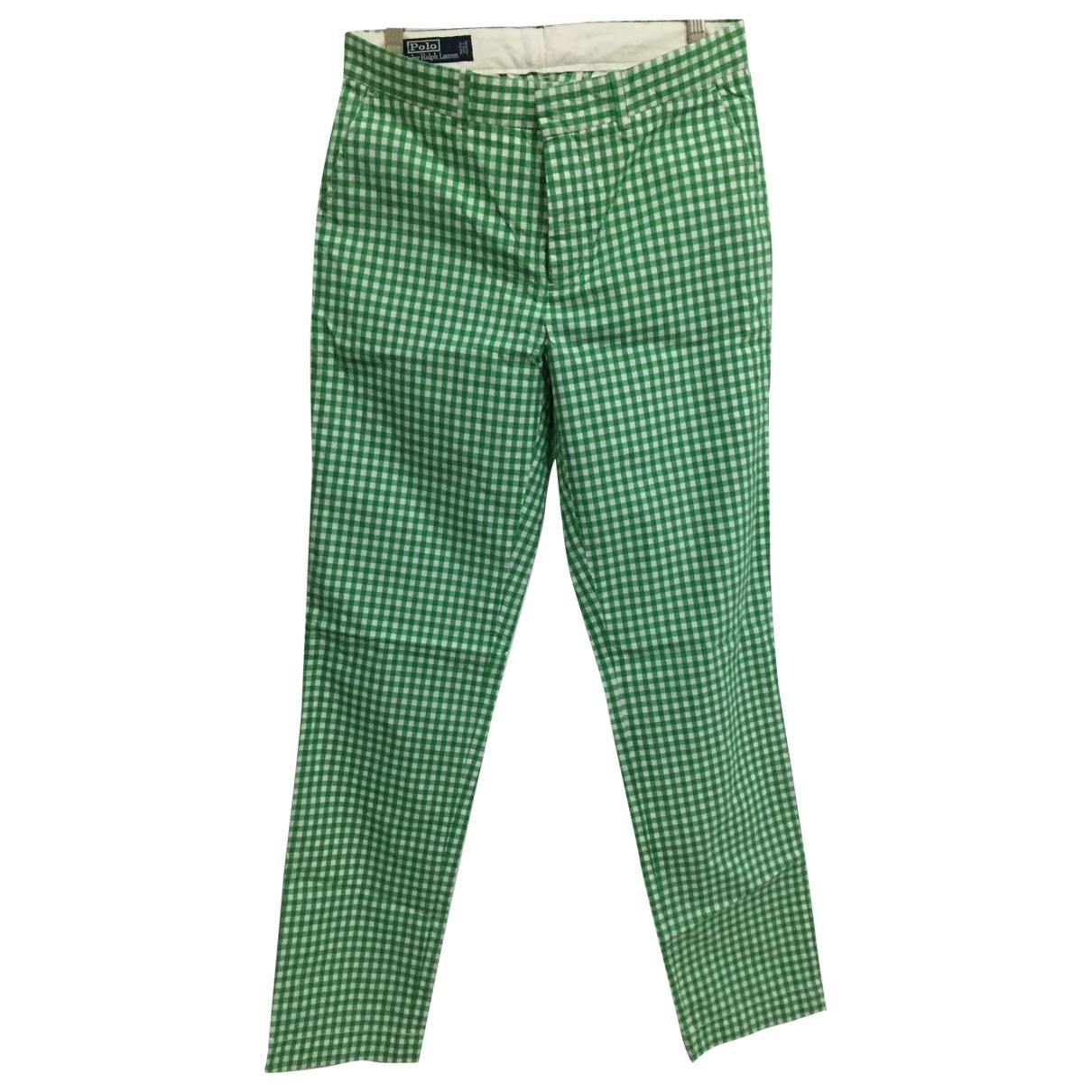 Polo Ralph Lauren \N Green Cotton Trousers for Men 32 UK - US
