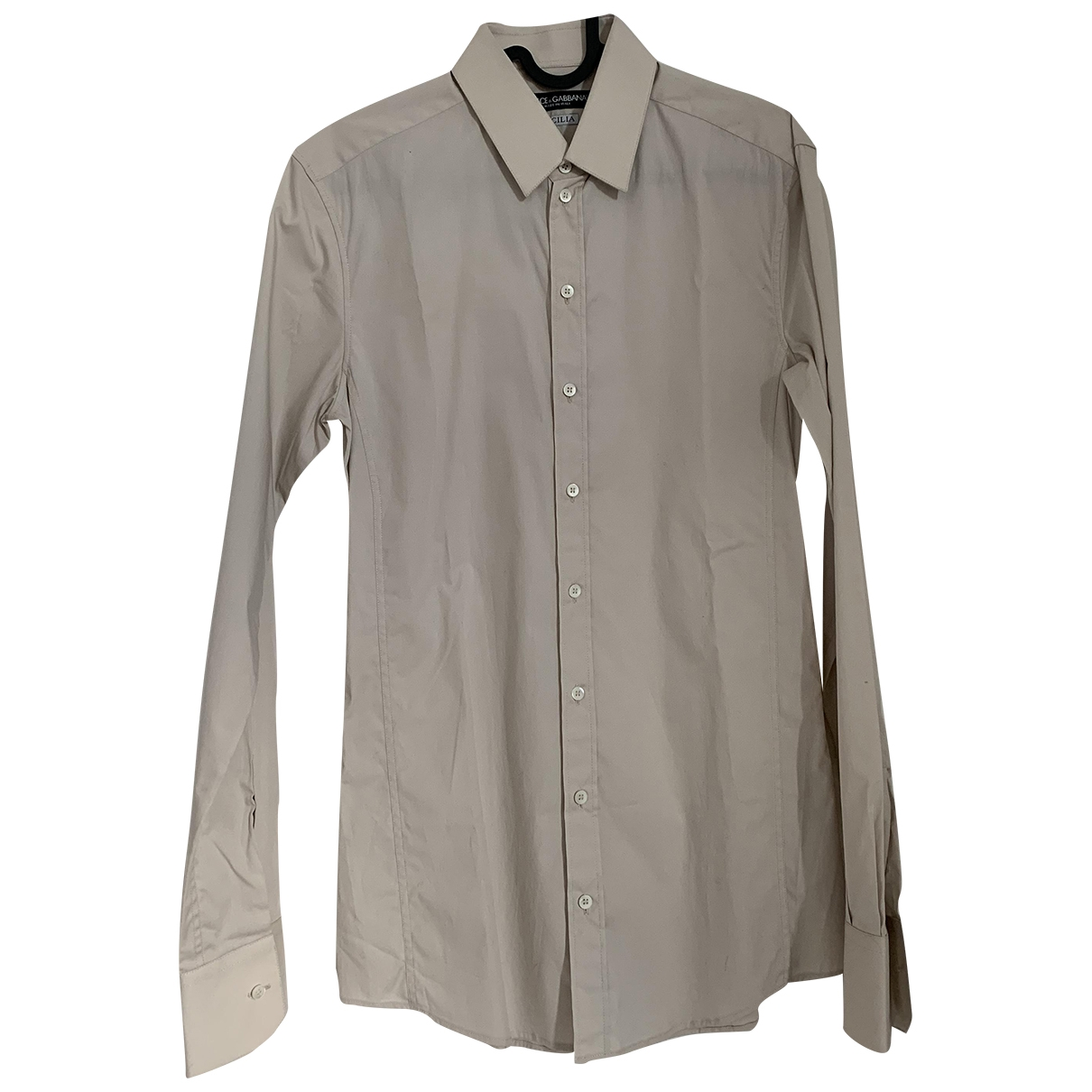 Dolce & Gabbana \N Beige Wool Shirts for Men 38 EU (tour de cou / collar)