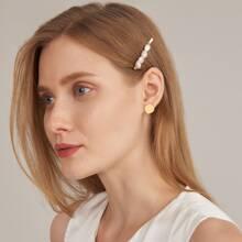 Faux Pearl Hair Clip