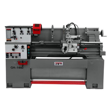 Jet Gear Head 14x40 3 Phase Lathe with Acu-Rite 203 DRO,Collet Closer and Taper Attachment