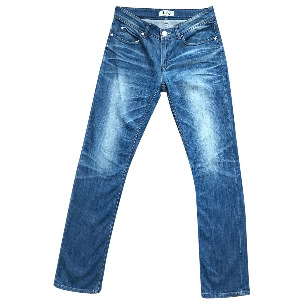 Acne Studios \N Blue Cotton - elasthane Jeans for Men 30 US