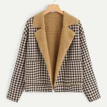 Houndstooth Teddy Lined Jacket