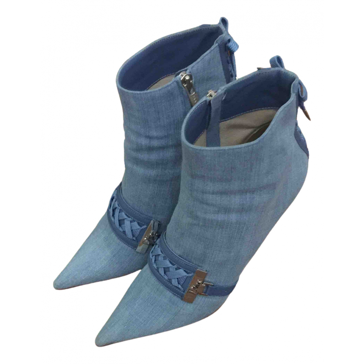 Dior \N Cloth Ankle boots for Women 38.5 IT