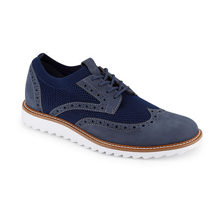 Dockers Smart Series Mens Hawking Lace-up Wing Tip Oxford Shoes, 10 1/2 Medium, Blue