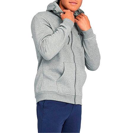 Puma-Big and Tall Mens Long Sleeve Hoodie, X-large Tall , Gray