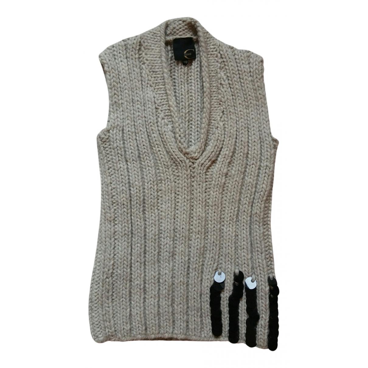Just Cavalli \N Ecru Wool Knitwear for Women 40 IT