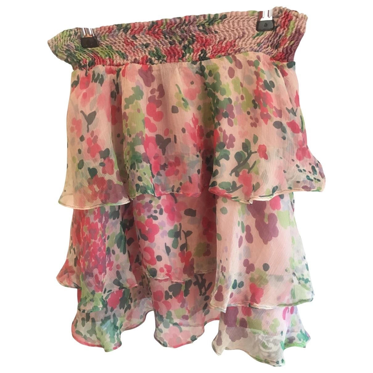 Zara \N Pink Silk skirt for Women 36 FR