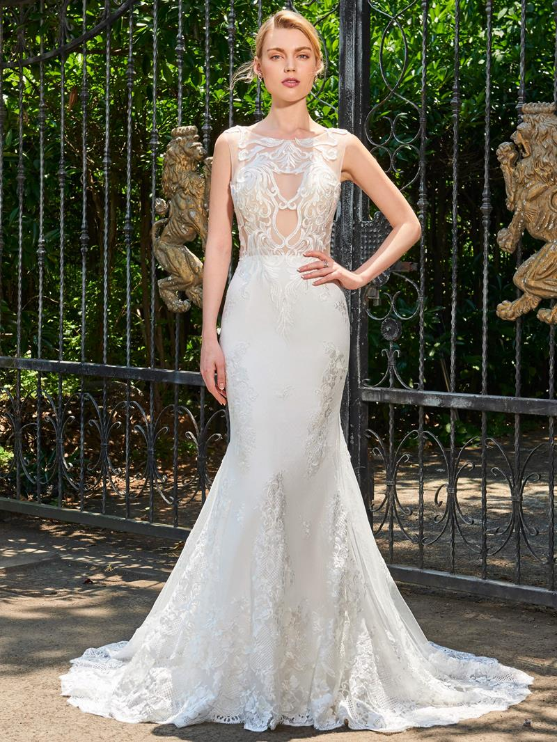 Ericdress Straps Hollow Lace Mermaid Backless Wedding Dress