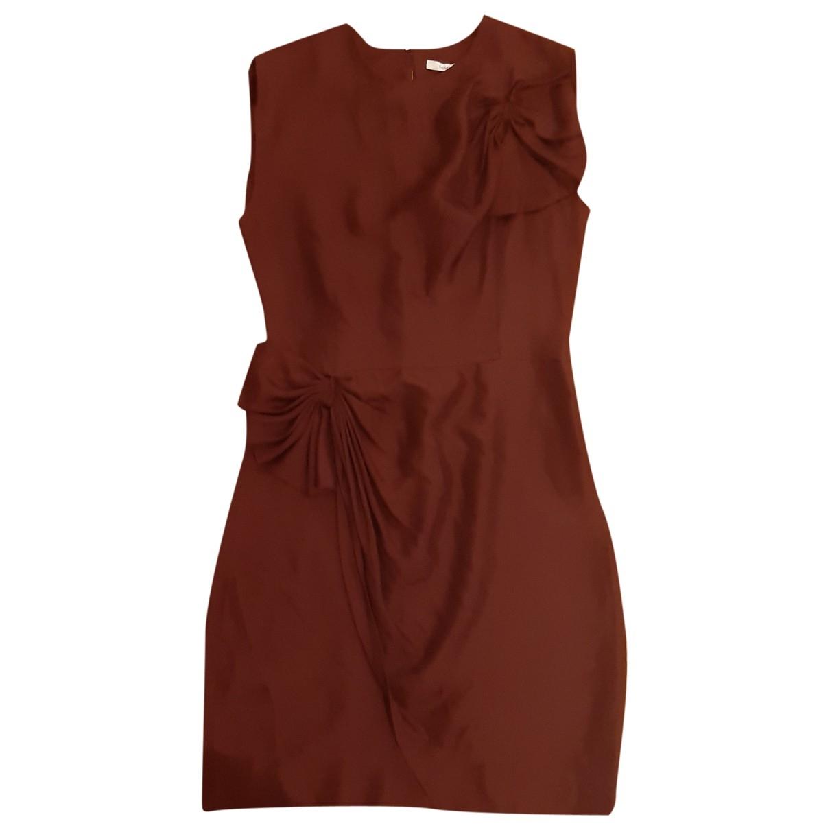 Diane Von Furstenberg \N Burgundy Silk dress for Women 8 US