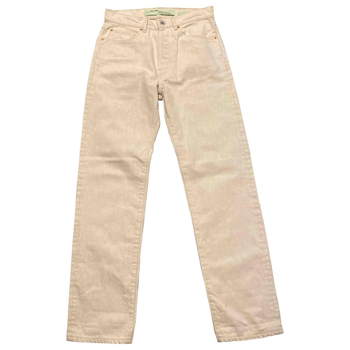 Off-white \N White Denim - Jeans Jeans for Women 27 US