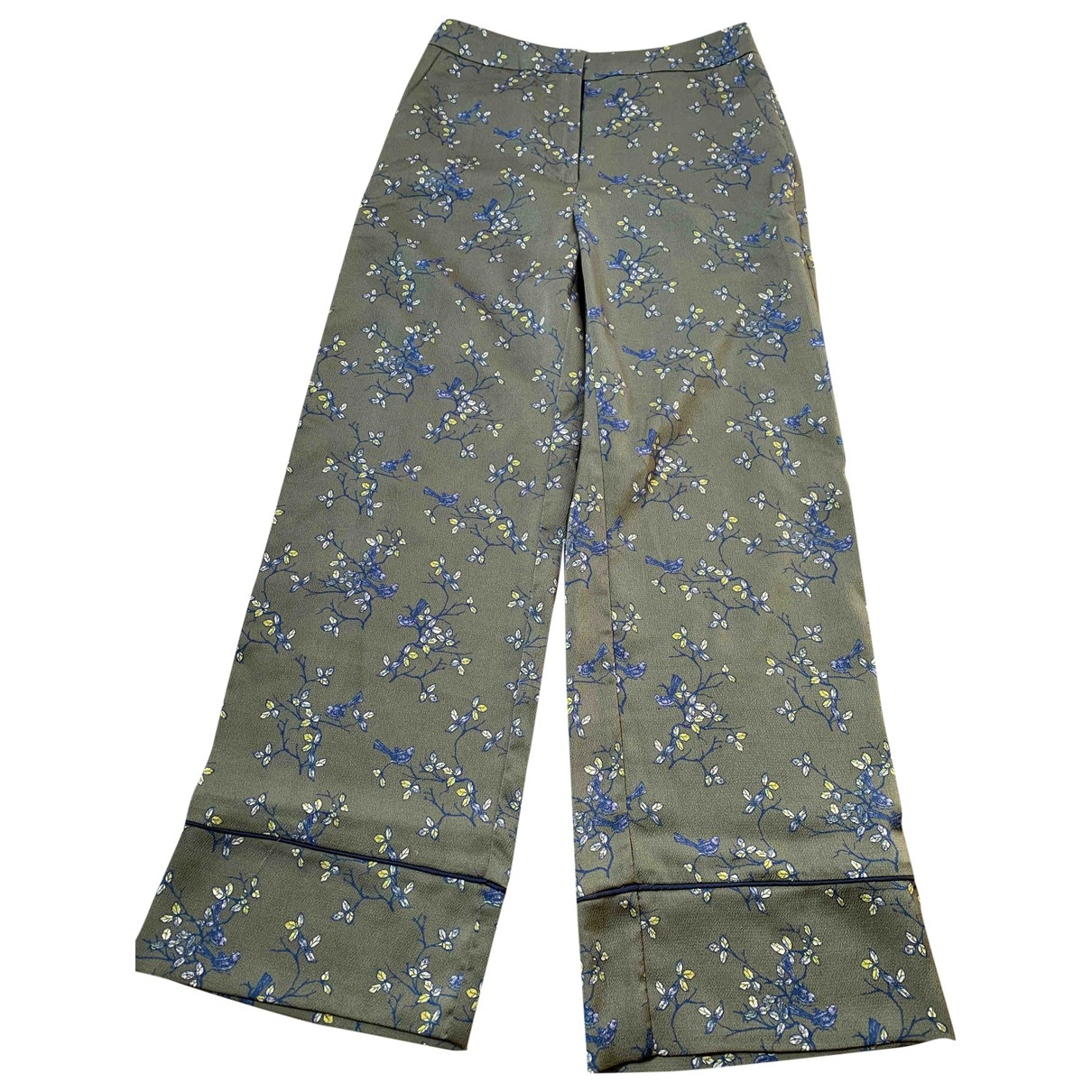 Non Signé / Unsigned \N Green Trousers for Women S International