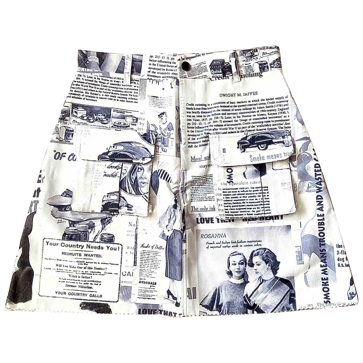 Non Signé / Unsigned \N White skirt for Women S International