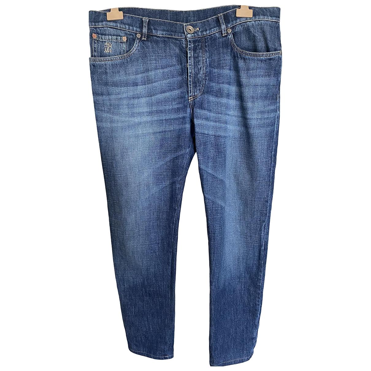 Brunello Cucinelli \N Blue Cotton Jeans for Men 56 IT