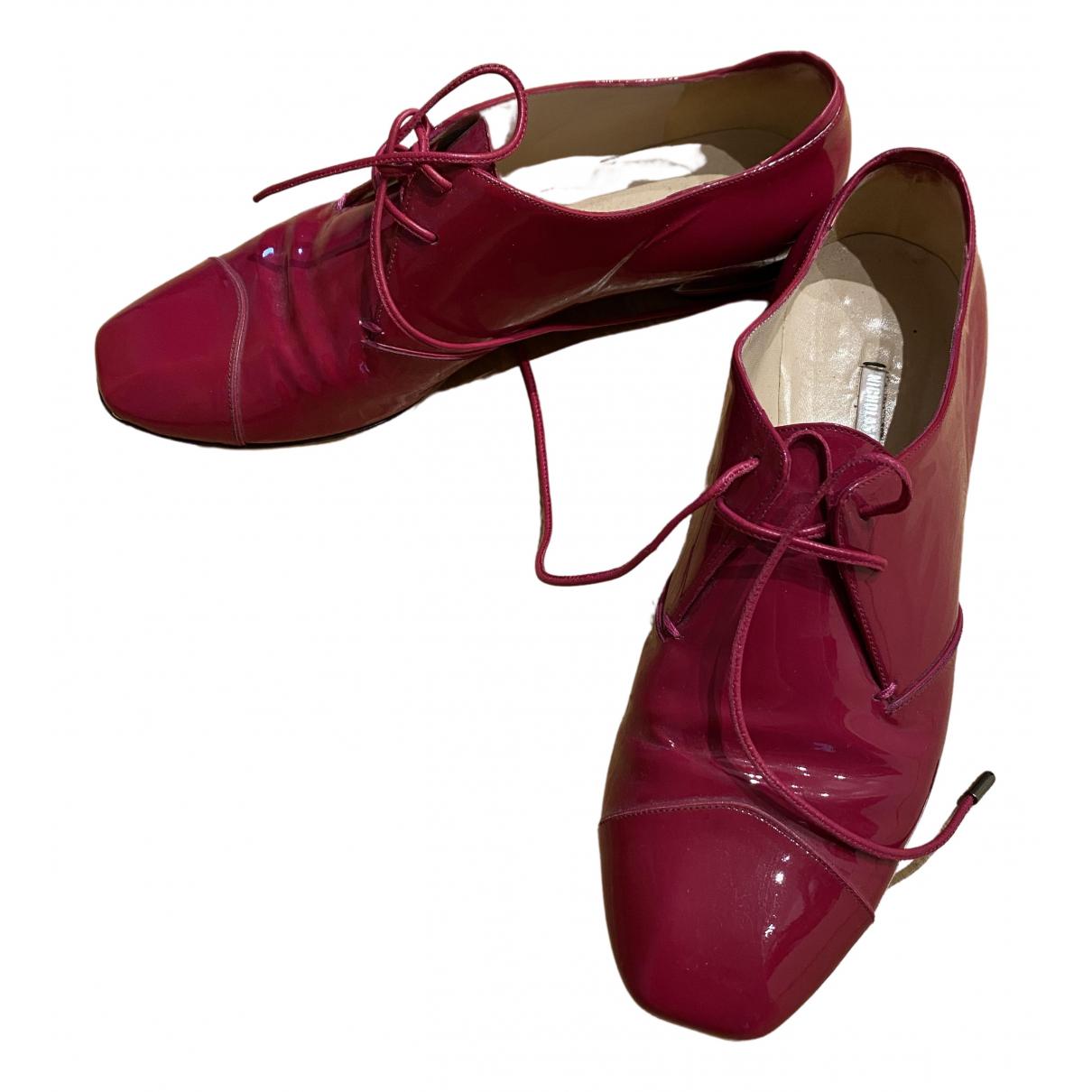 Nicholas Kirkwood \N Pink Patent leather Lace ups for Women 37 EU