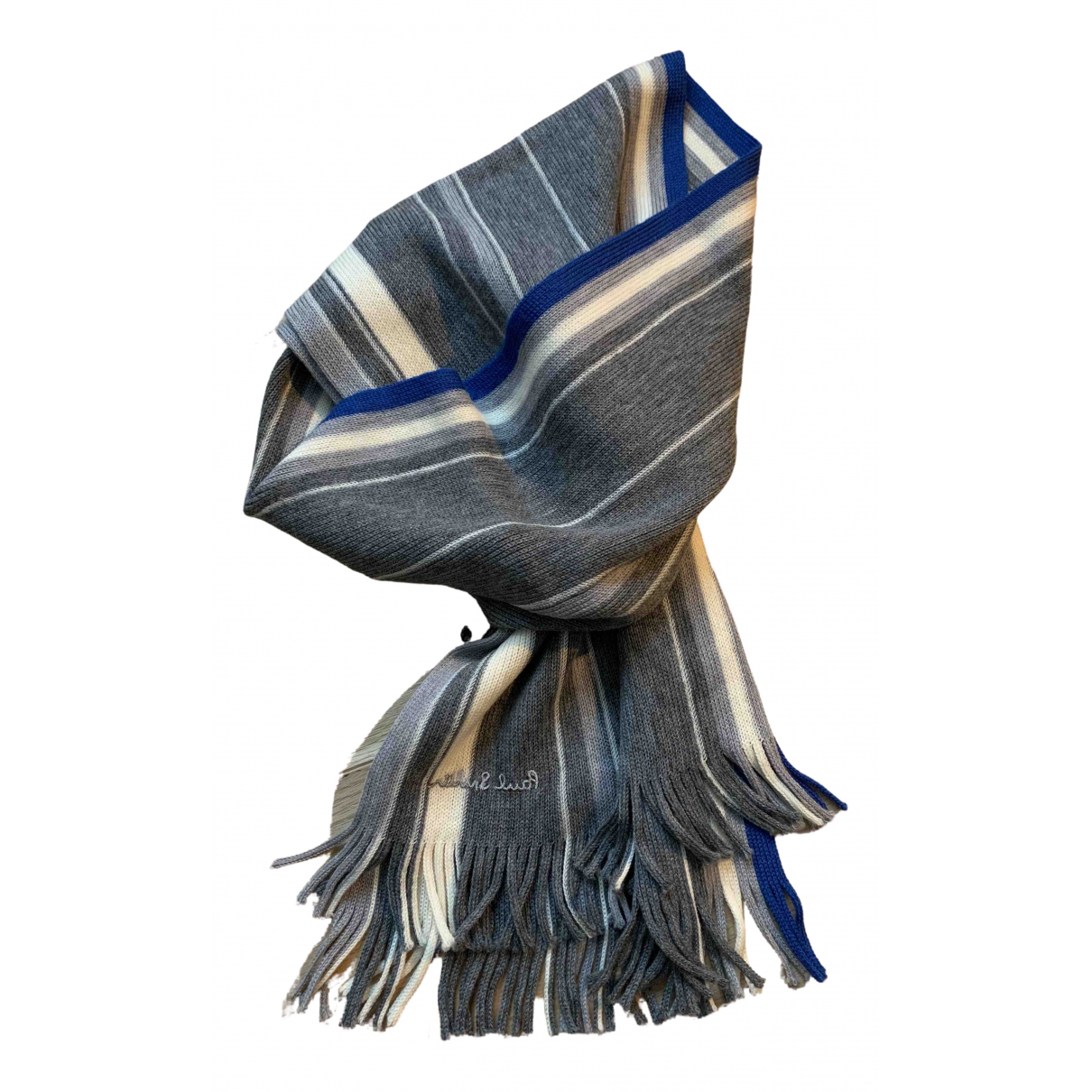 Paul Smith N Grey Wool scarf & pocket squares for Men N