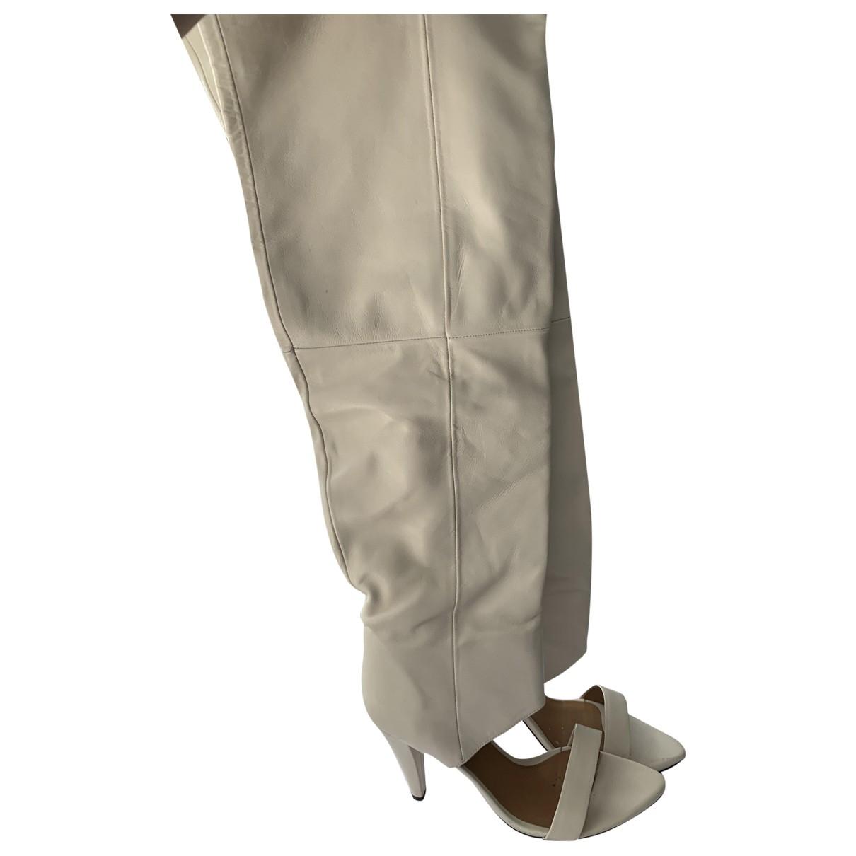 Iro \N White Leather Boots for Women 39 EU