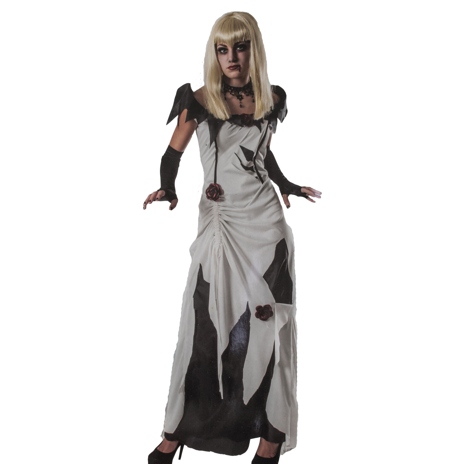 Rubies Creeping Beauty Scary Tales Halloween Costume for Women - L - White/Black