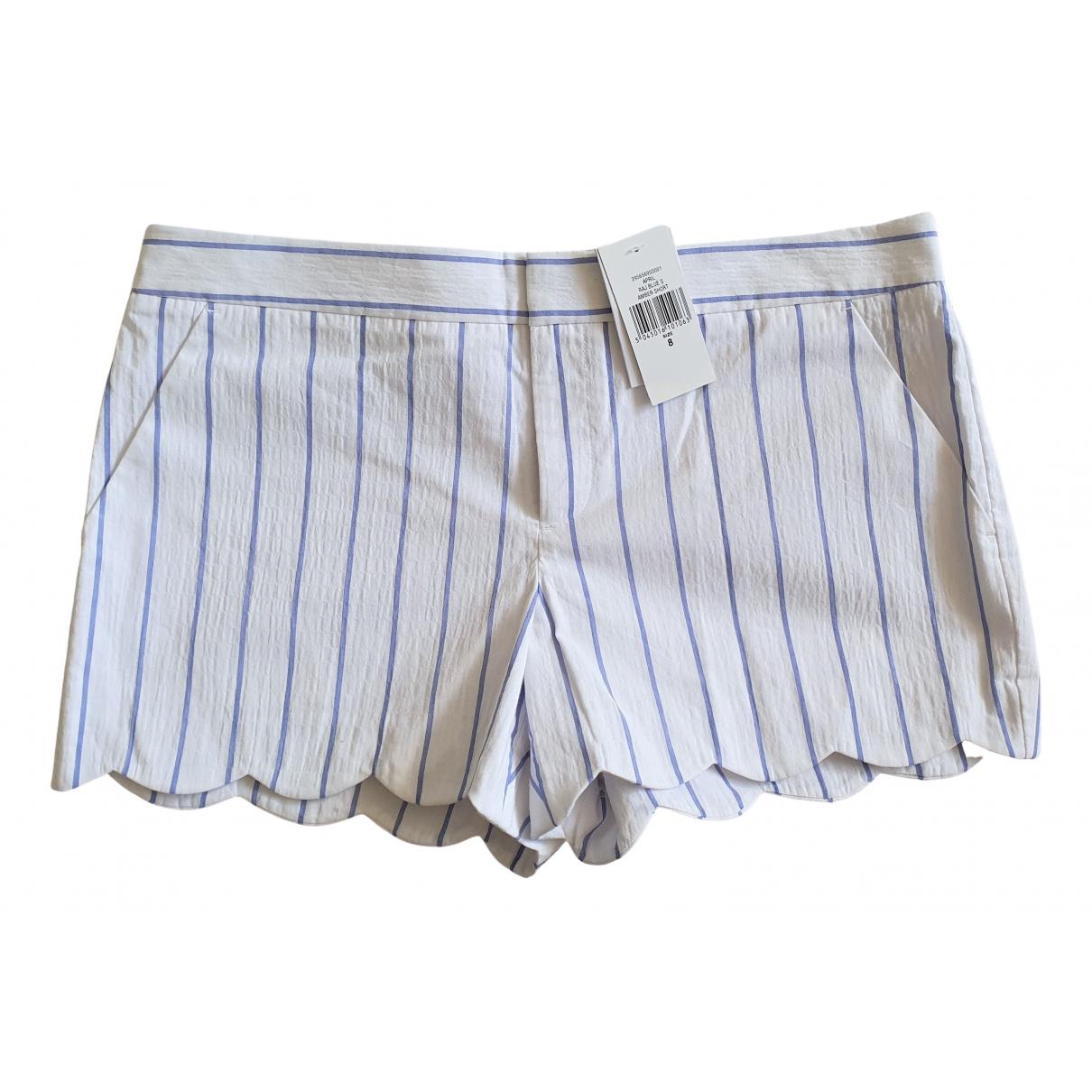 Club Monaco \N White Cotton - elasthane Shorts for Women 8 US