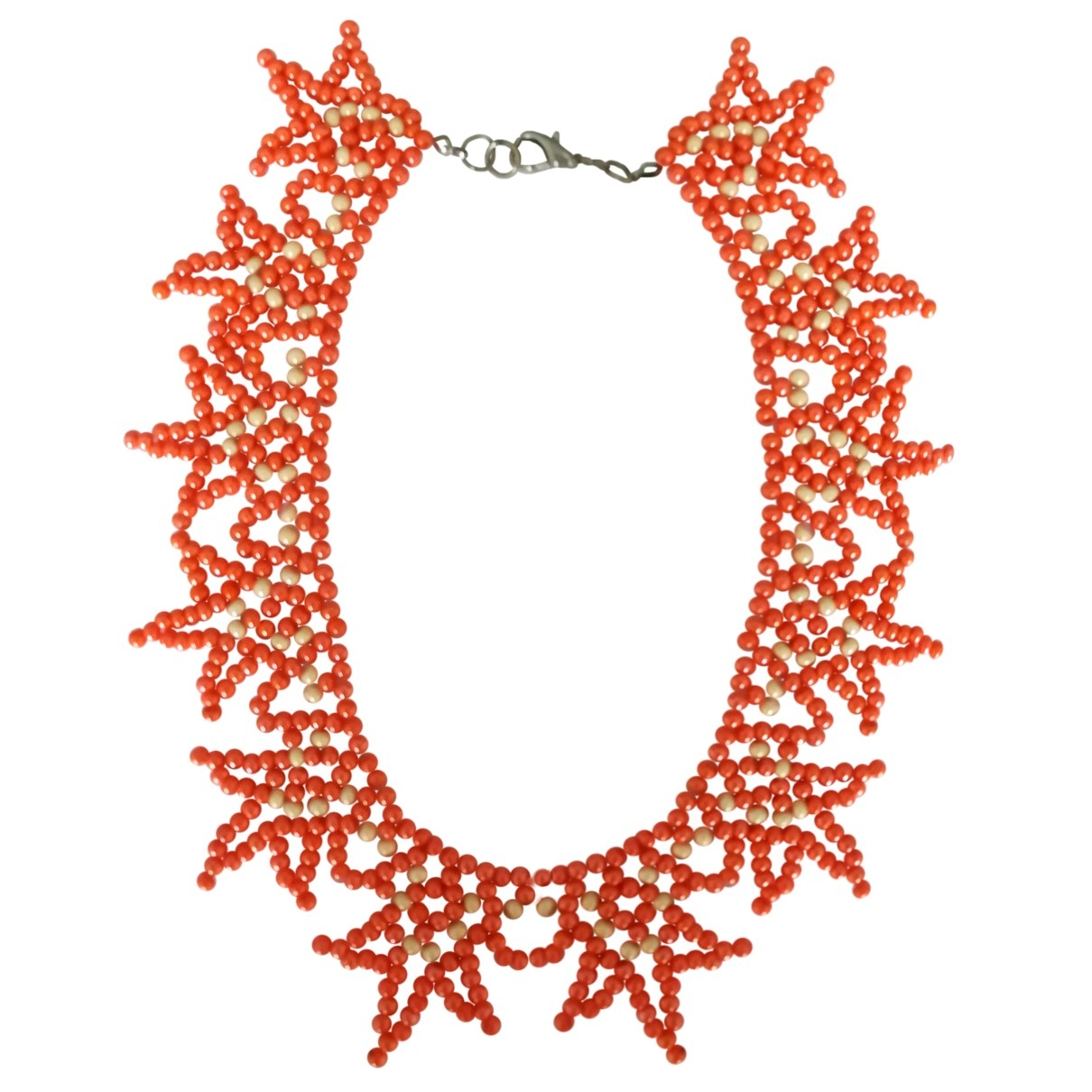 Non Sign?? / Unsigned Corail Orange Pearls necklace for Women \N