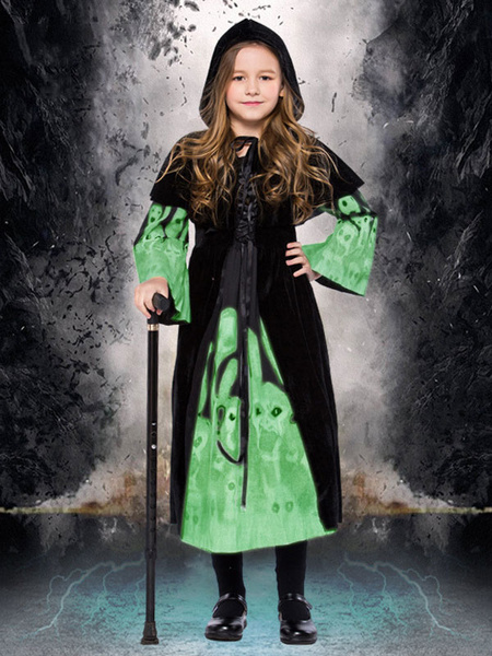 Milanoo Kids Witch Costume Halloween Dresses And Cloak Set Child Wears