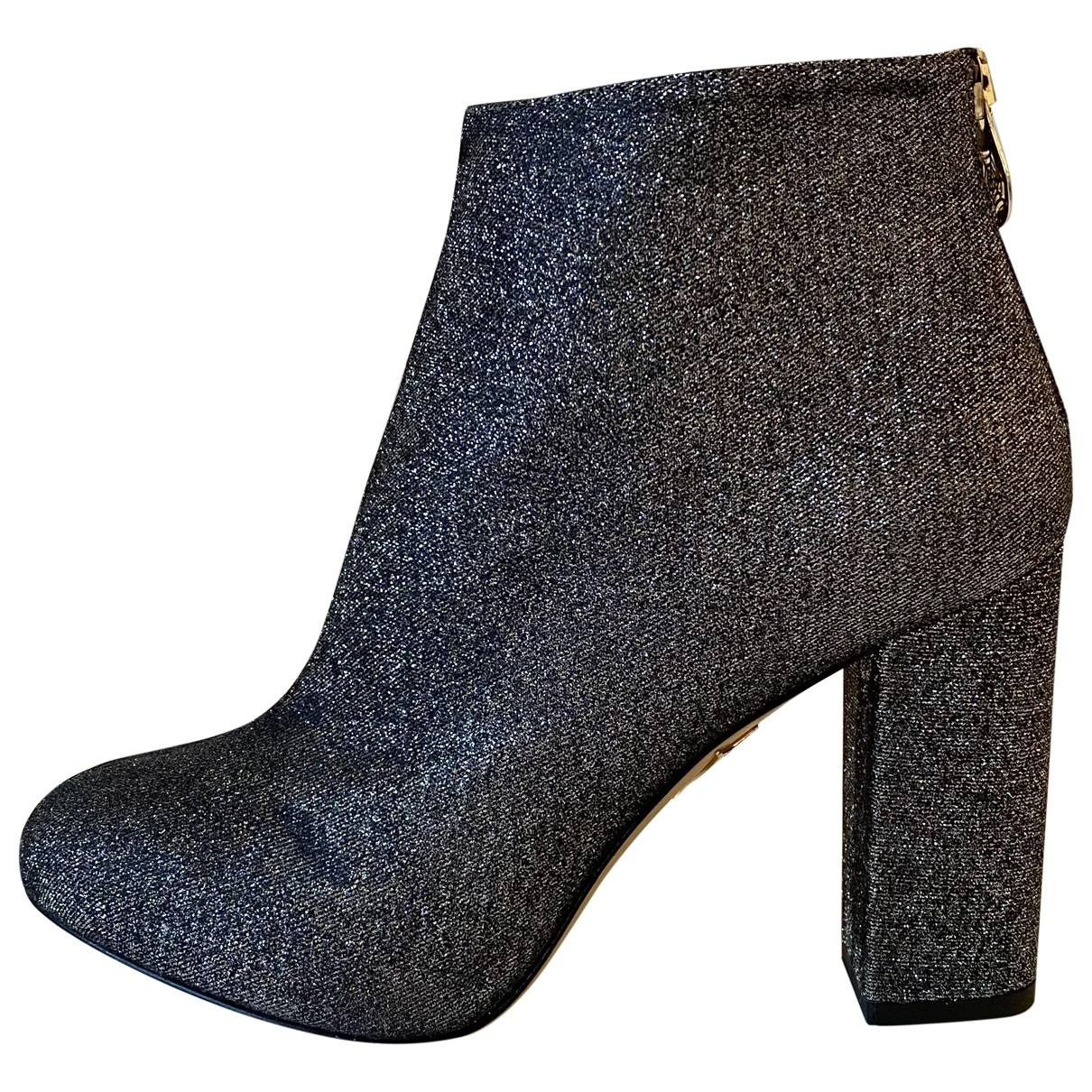 Charlotte Olympia \N Silver Glitter Ankle boots for Women 39 EU