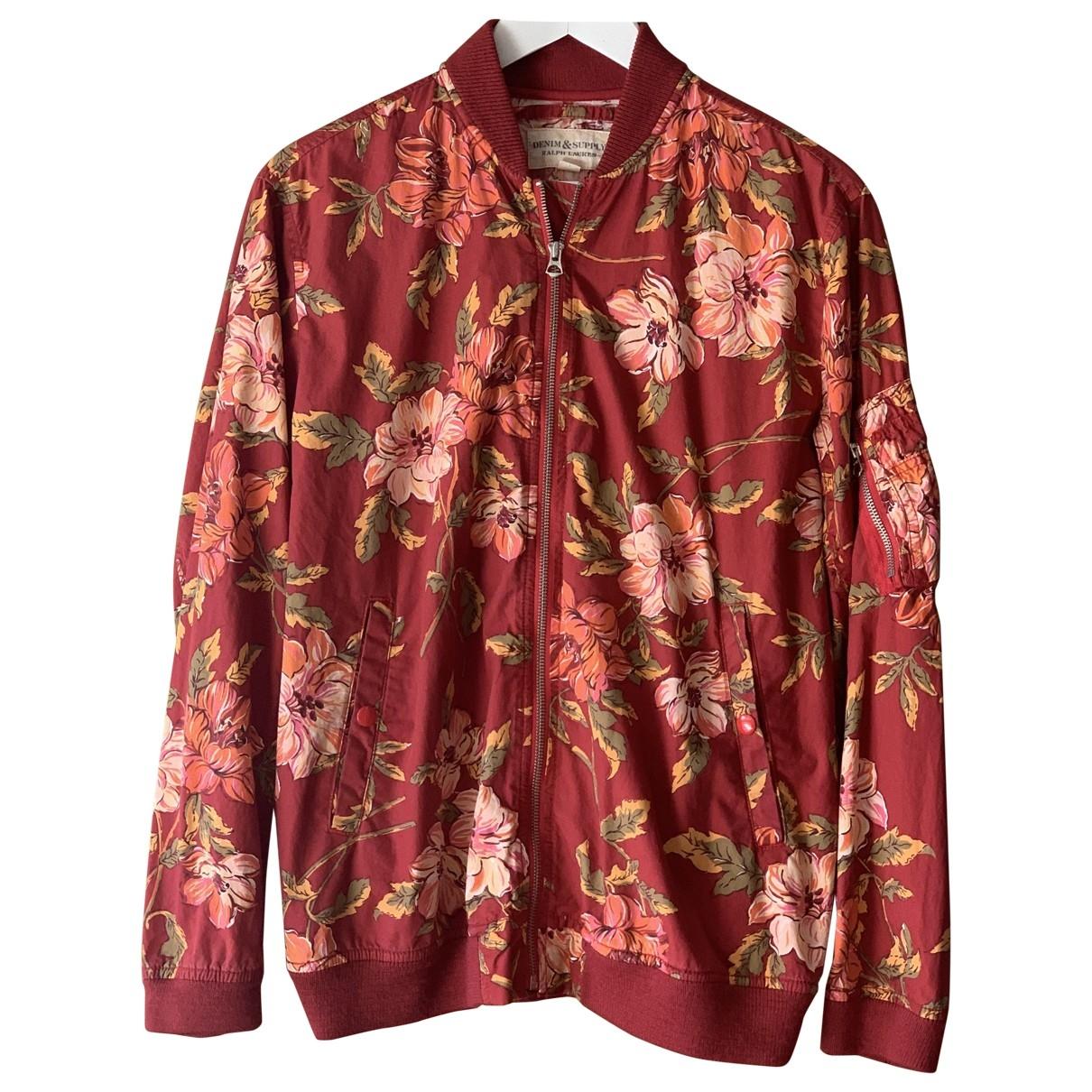 Ralph Lauren Denim & Supply \N Red Cotton Leather jacket for Women 40 FR