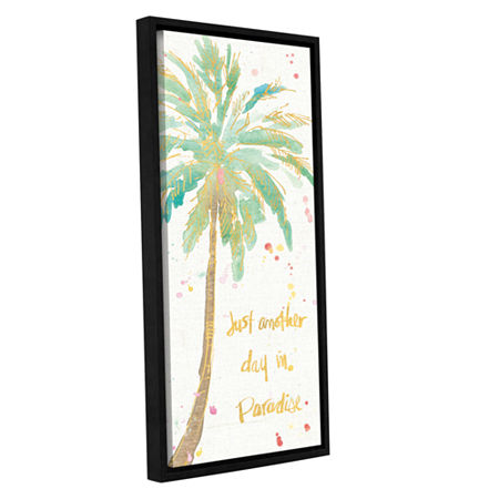 Brushstone Flamingo Fever X Gallery Wrapped Floater-Framed Canvas Wall Art, One Size , White