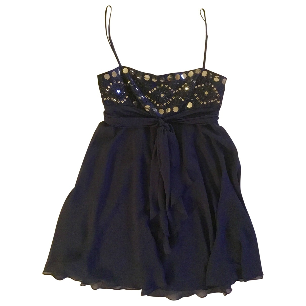 Bcbg Max Azria \N Blue Silk dress for Women 2 US