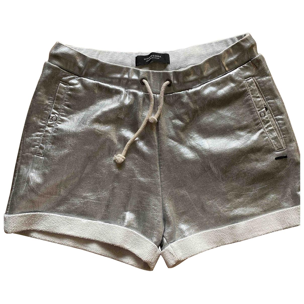 Scotch & Soda \N Silver Cotton Shorts for Women 42 IT