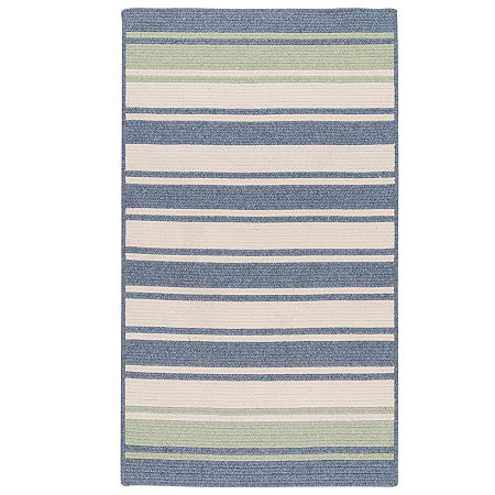 Colonial Mills Naples Stripe Reversible Braided Rug, One Size , Blue