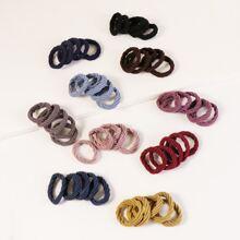 50pcs Solid Hair Tie
