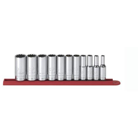 GearWrench Socket Set, 11 Pc. 3/8 In. Drive 12 Point, SAE