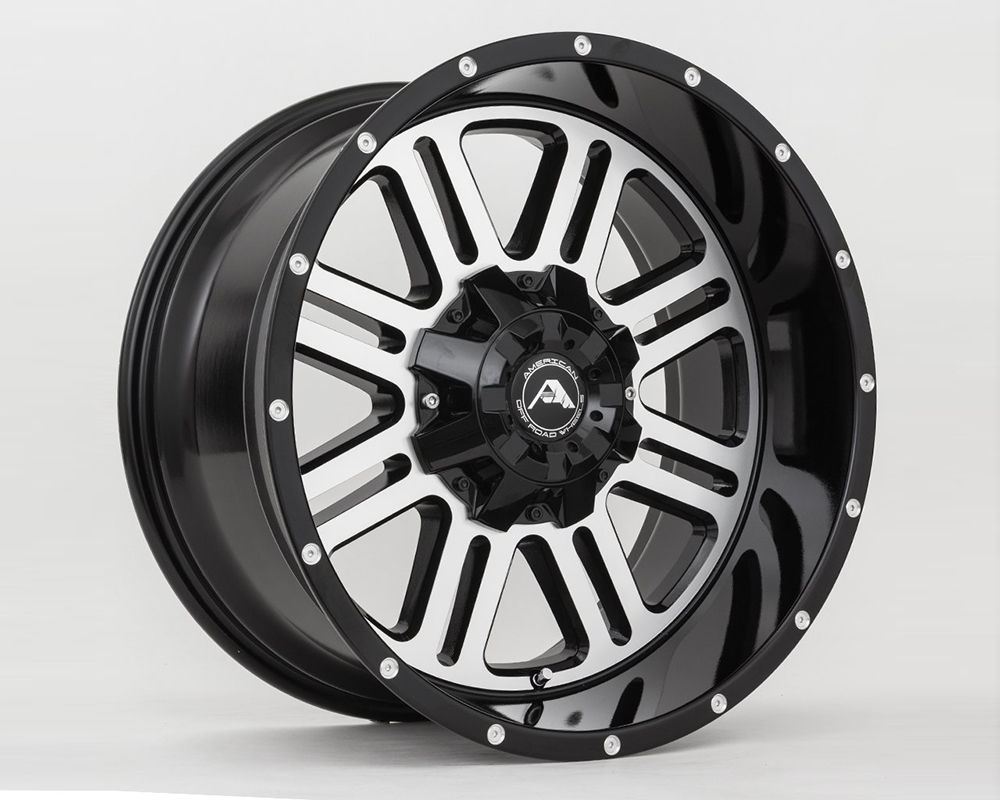 American Off-Road A10620A0865-24BMF A106 Black Machined Wheel 20x10 8x6.5 -24mm