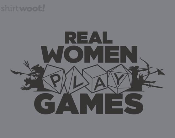 Real Men And Women Play Games T Shirt