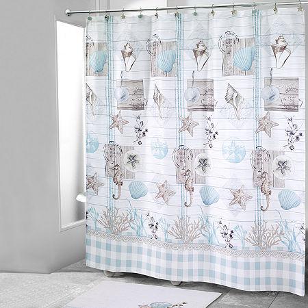 Avanti Farmhouse Shell Shower Curtain, One Size , Multiple Colors